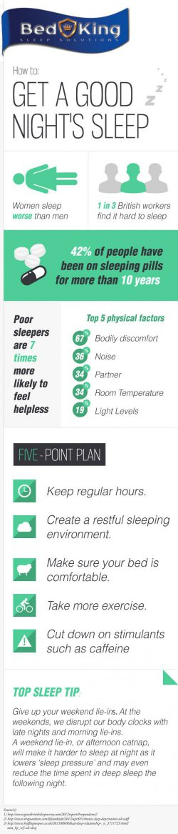 How To Get a Good Nights Sleep [INFOGRAPHIC]
