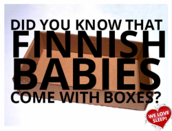 Finnish Babies Come With and Sleep in Cardboard Boxes