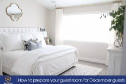 How to prepare your guest room for December guests